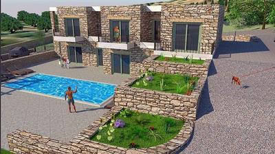 Nová atraktivní řadová vila s výhledem na moře, Kréta, Řecko