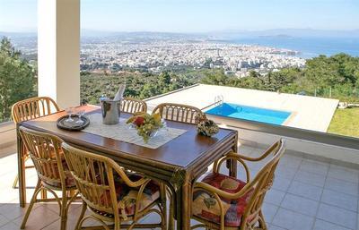 Luxusní vila s bazénem a výhledem na moře, Kréta, Řecko