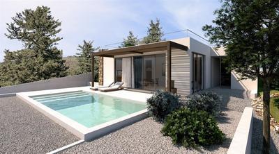 Projekt slunné moderní vily se zahradou a bazénem, Kréta, Řecko