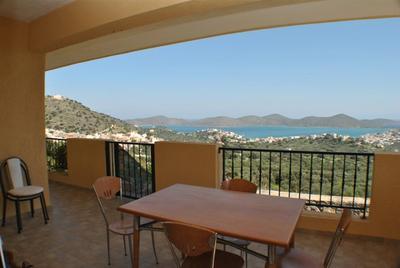Dům s bazénem a krásným výhledem na moře, Kréta, Řecko