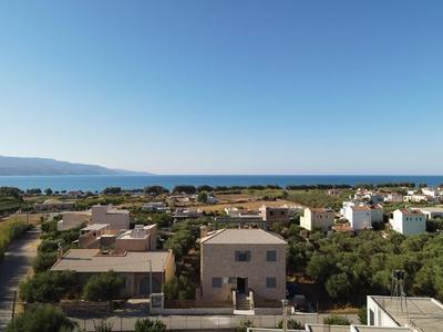 Nový kamenný dům s výhledem na moře, Kréta, Řecko